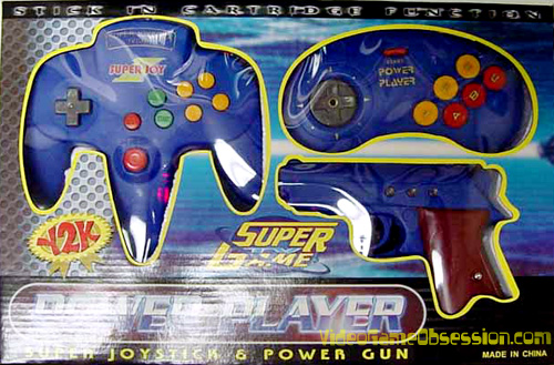 Power Player Super Joystick Amp Power Gun Famiclone