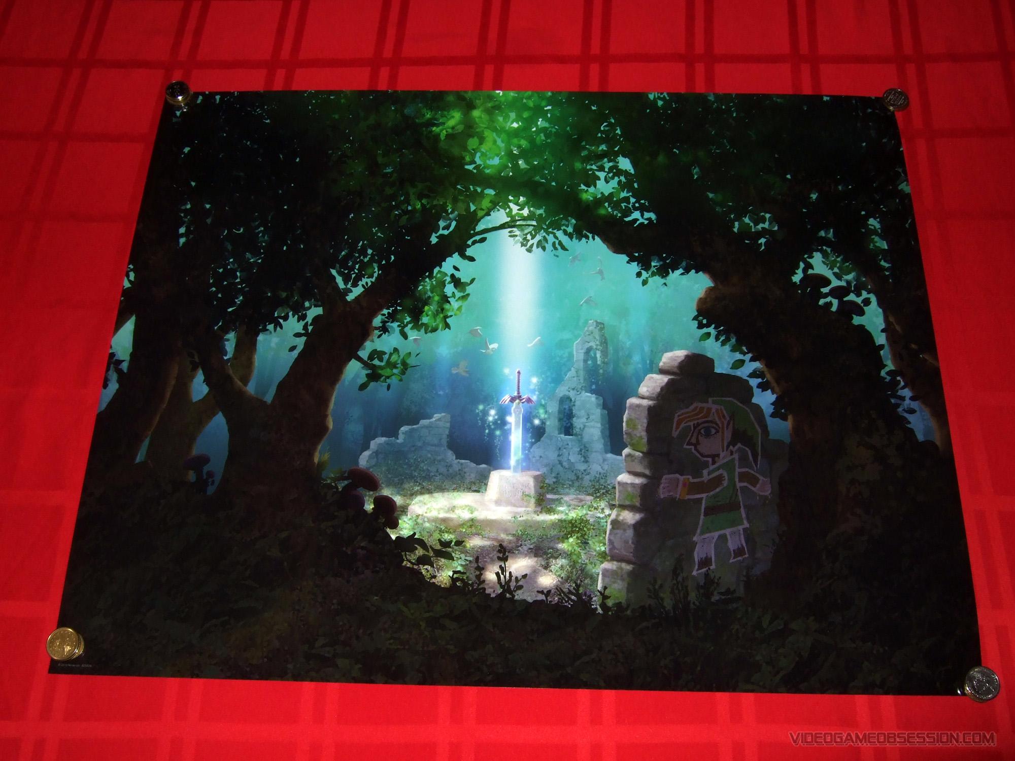 Zelda A link between worlds Poster Back Up on Club Nintendo  A Link Between Worlds Poster