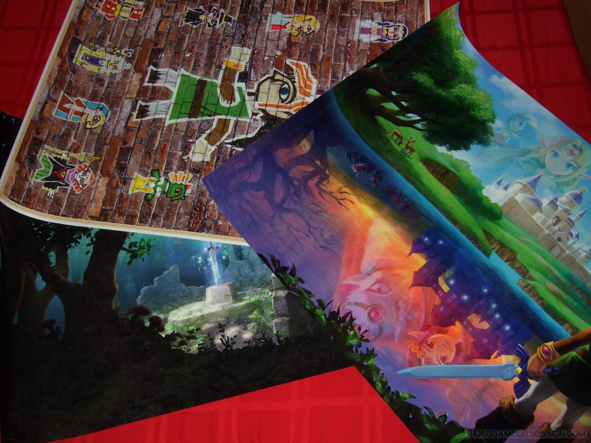 Club Nintendo Zelda A Link Between Worlds Poster Set  includes 3 22    A Link Between Worlds Poster