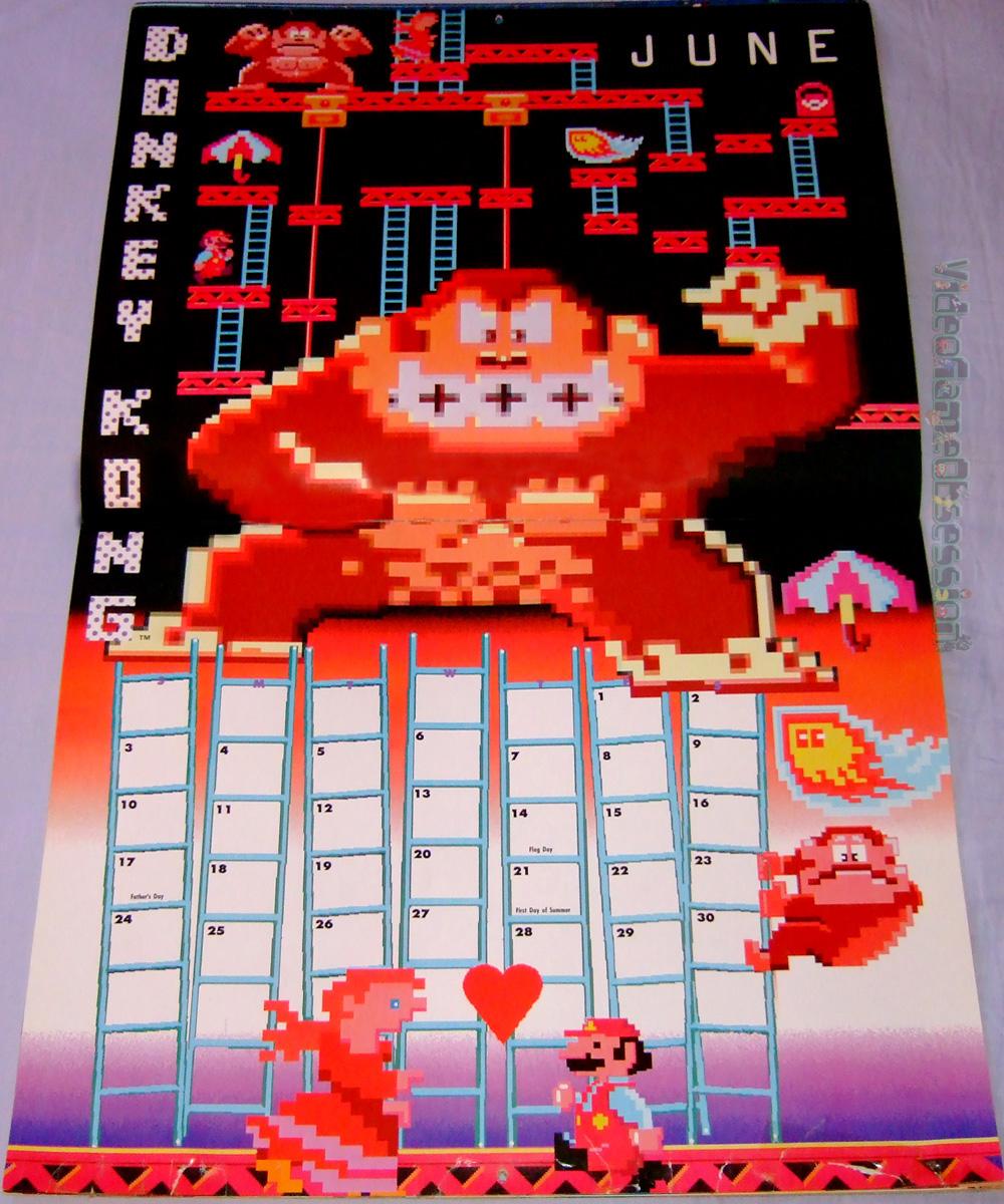 Na Nintendo The Power Game 1993 Calendar